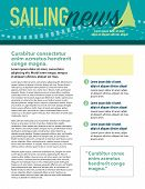 picture of newsletter  - Page layout newsletter for use with business or nonprofit - JPG