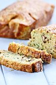 image of fresh slice bread  - Fresh slices of zucchini bread with shallow depth of field - JPG