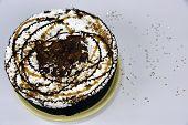 picture of truffle  - Chocolate caramel truffle ice cream cake creation - JPG