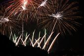 picture of firework display  - Beautiful Fireworks display in the night sky - JPG