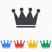 picture of crown jewels  - Crown icon on a white background - JPG