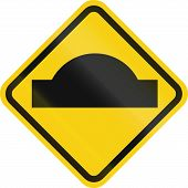 image of hump  - A Colombian road warning sign - JPG