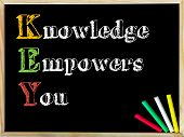 picture of empower  - Acronym KEY as KNOWLEDGE EMPOWERS YOU - JPG