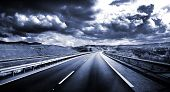 picture of cloudy  - Road scenery - JPG