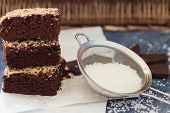 picture of brownie  - Chocolate brownie cake with coconut - JPG