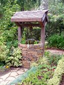 picture of wishing-well  - A quaint wishing well in Cambria - JPG