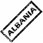 image of albania  - Vector rubber stamp with name ALBANIA - JPG