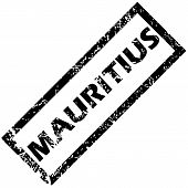 picture of mauritius  - Vector rubber stamp with name MAURITIUS - JPG