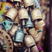 image of edelweiss  - Decoration Metal bells from Zakopane in Poland - JPG