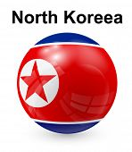 stock photo of north star  - north koreea official state flag - JPG