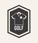 foto of miniature golf  - golf design over white background vector illustration - JPG