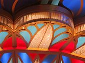 stock photo of chandelier  - A part of a large chandelier with different colors - JPG