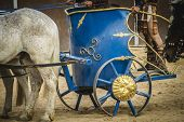 picture of chariot  - chariot race in a Roman circus - JPG