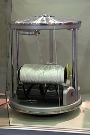 picture of rayon  - Machine for winding yarn on a bobbin - JPG