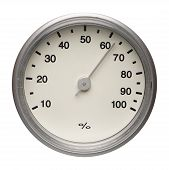 Dial Of Hygrometer, Isolated