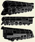 Antique Locomotive Vector 01.eps