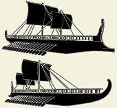 The Ancient Viking Ship Vecto...