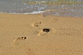 Footprints On Sand