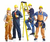 stock photo of interior decorator  - contractors workers people - JPG