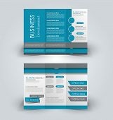 Brochure Mock Up Design Template For Business, Education, Advertisement. Trifold Booklet Editable Pr poster