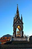 Albert Memorial, Kensington Gardens, London, England, Uk, Europe, At Dusk, With The Albert Hall In T poster