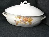 Antique China Casserole Dish