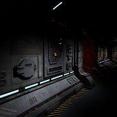 Hintergrundbild von einem dunklen Korridor