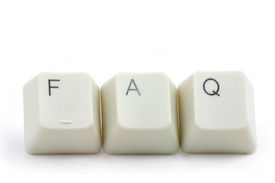 picture of keyboard keys  - letter keys close up concept of faq - JPG