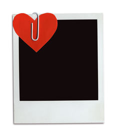 pic of valentine heart  - photo frame with attached valentine heart  - JPG