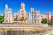 Fountain Of The Goddess Cibeles And Cibeles Center-culture And Citizenship Centre. Madrid. Spain. poster