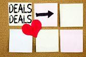 Conceptual Announcement Text Caption Inspiration Showing Deals. Business Concept For Advertising Dea poster