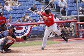 Portland Sea Dogs batter Tim Federowicz swings