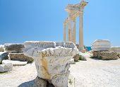 Ruins Of Athena Temple Side Turkey