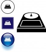 personal bathroom scale symbol sign and button