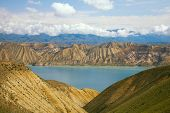 highland mountain lake in Kyrgyzstan, Jalal-Abad Province