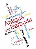 Ciudades y mapa de Antigua y Barbuda