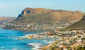 Elevated View Of Kalk Bay Harbour In False Bay Cape Town South Africa poster