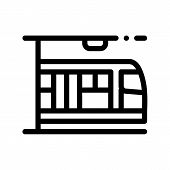 Public Transport Metro Thin Line Sign Icon. Underground Metro Train Urban Passenger Transport Linear poster