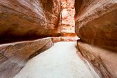 The Siq - Narrow Gorge To Ancient City Petra