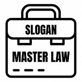 Master Law Icon. Outline Master Law Vector Icon For Web Design Isolated On White Background poster