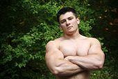 Attractive muscular man