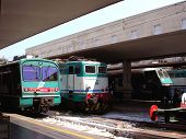 Locomotives At Firenze Santa Maria Novella Station