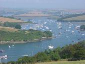 Views Of The Estuary,salcome, Devon, England.