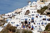 Village of Oia at Santorini in Greece
