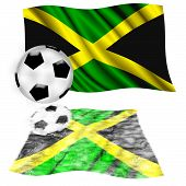 Football Flag Jamaica