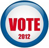 United States Election Vote Button.