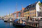 Nyhavn Street And Chanel In Copenhagen