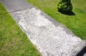 Damaged Concrete Walkway