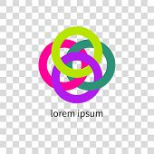 Abstract Circle Icon. International Business Team. Concept Vector Illustration. International Busine poster