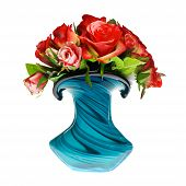 bouquet of red roses in the vase